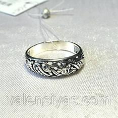 Кольцо серебряное ажурное