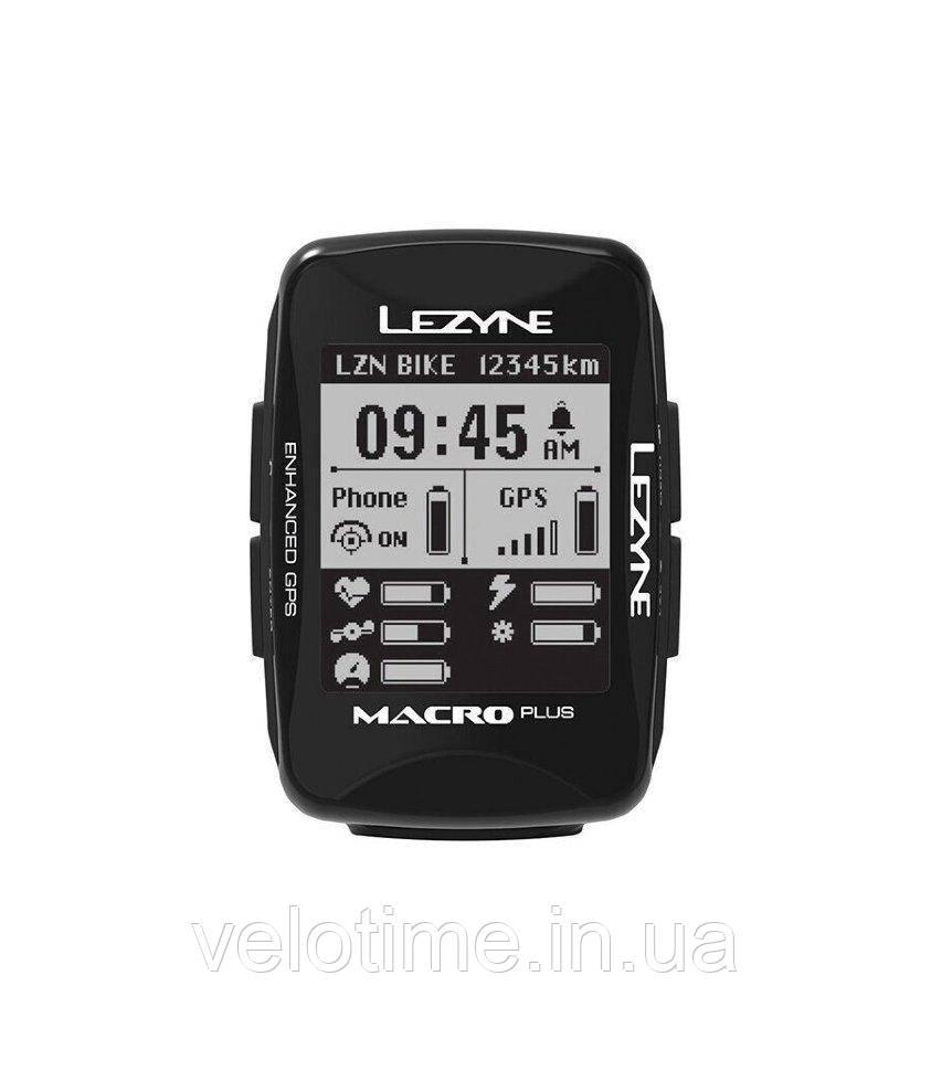 Компьютер Lezyne MACRO PLUS GPS HR/ProSC LOADED (черный)