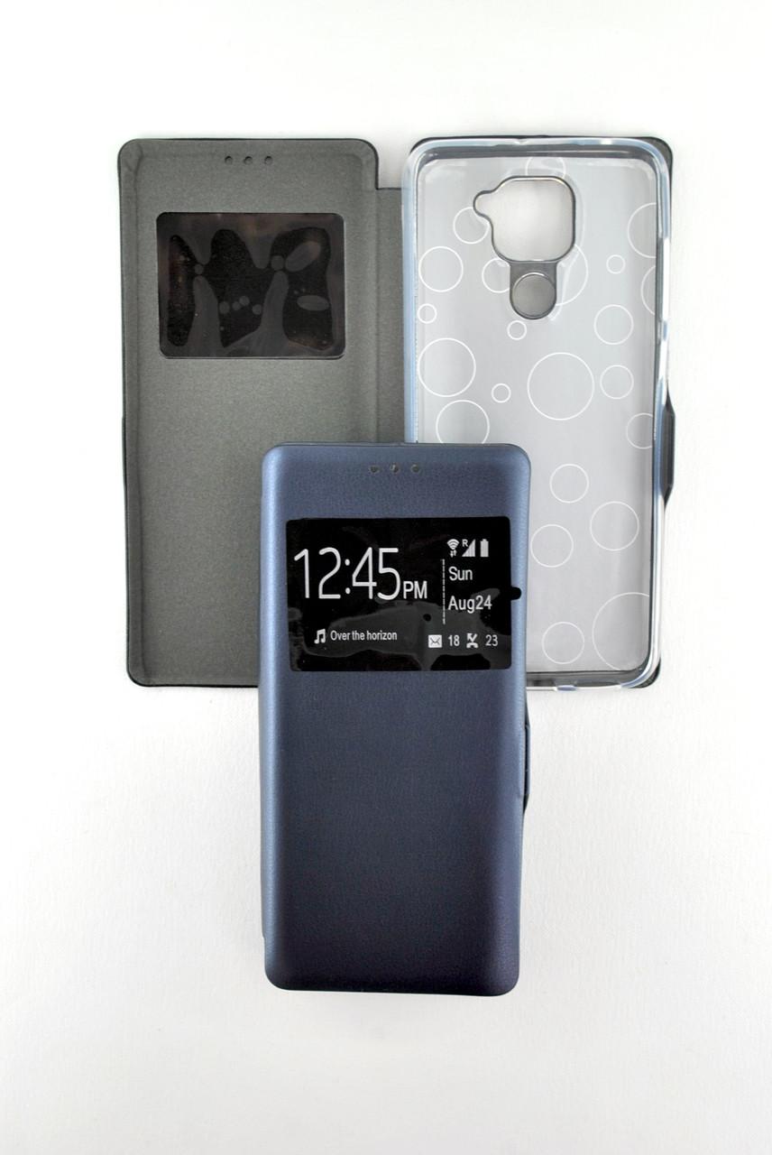 Чохол-книжка для телефону Samsung A21s / A217 (2020) Afina Dark blue (4you)