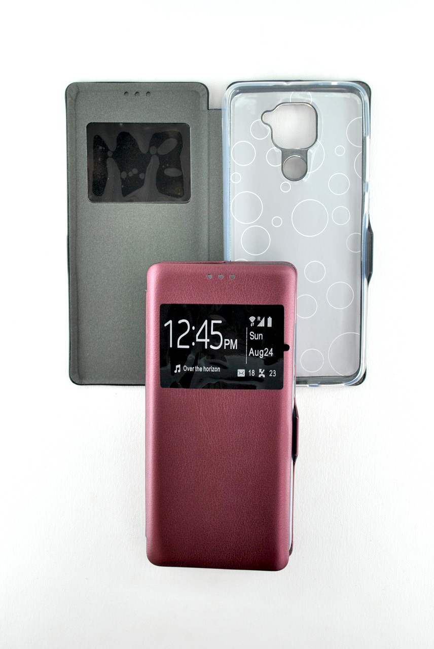 Чехол-книжка Flip Cover for Huawei P Smart (2020) Afina Marsala (4you)
