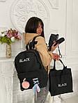 Женский рюкзак 4в1, полиэстер (чёрный), фото 5