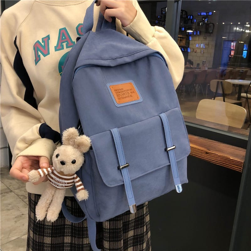 Женский рюкзак, полиэстер (синий)