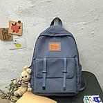 Женский рюкзак, полиэстер (синий), фото 2
