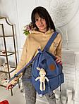 Женский рюкзак, полиэстер (синий), фото 3