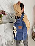 Женский рюкзак, полиэстер (синий), фото 4