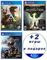 (Электронные версии) ARK: Survival Evolved + Dragon Age™: Inquisition + MONSTER HUNTER: WORLD + 2 случайные