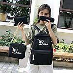 Женский рюкзак 4в1, полиэстер (чёрный), фото 2