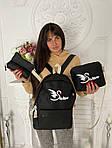 Женский рюкзак 4в1, полиэстер (чёрный), фото 3