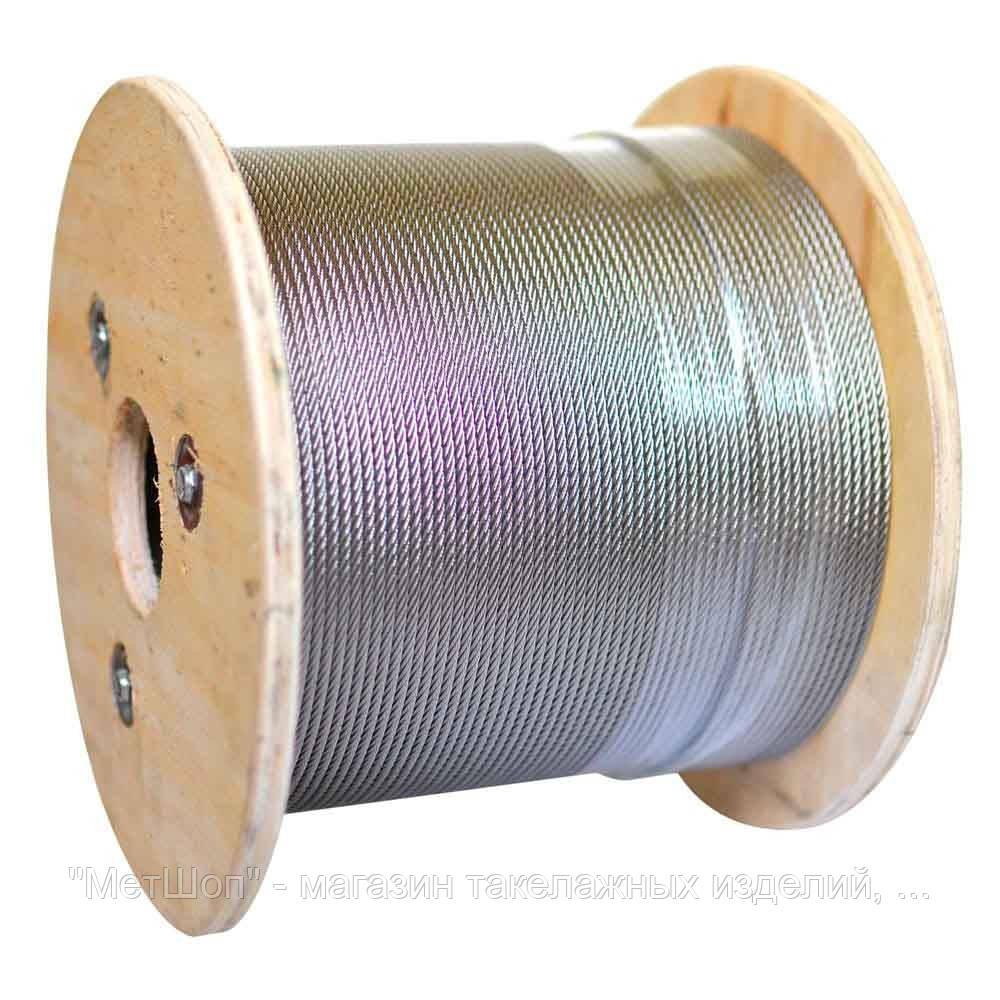 Трос 5,0 мм (6x19+FC) оцинкованный DIN 3060