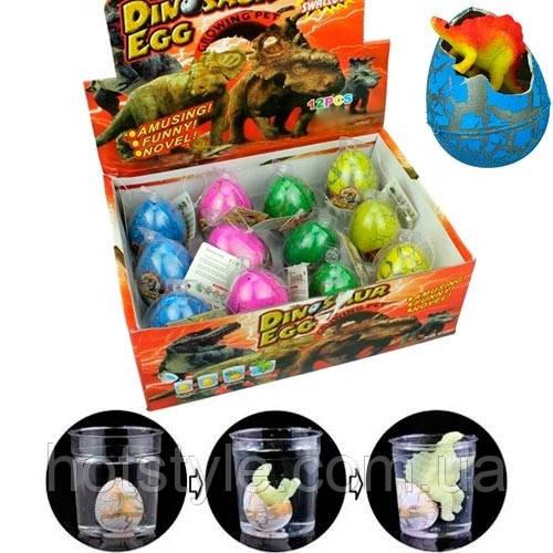 Дино инкубатор 12шт 6x4.5см растишка яйцо динозавра растущий динозавр, 101933