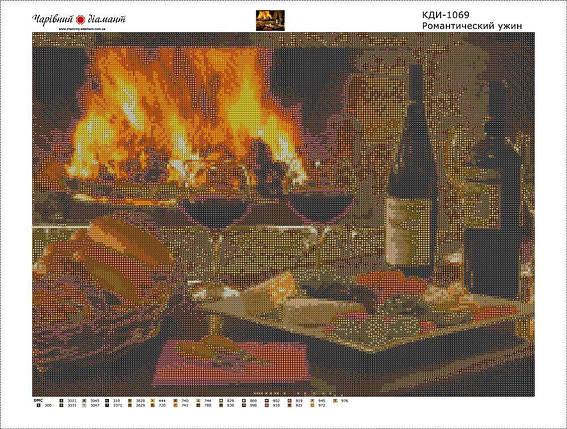 КДІ-1069 Набір алмазної вишивки Романтичну вечерю, фото 2