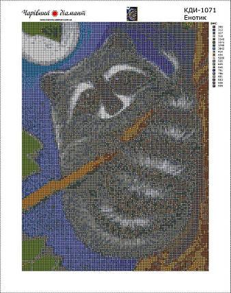 КДИ-1071 Набор алмазной вышивки Енотик, фото 2