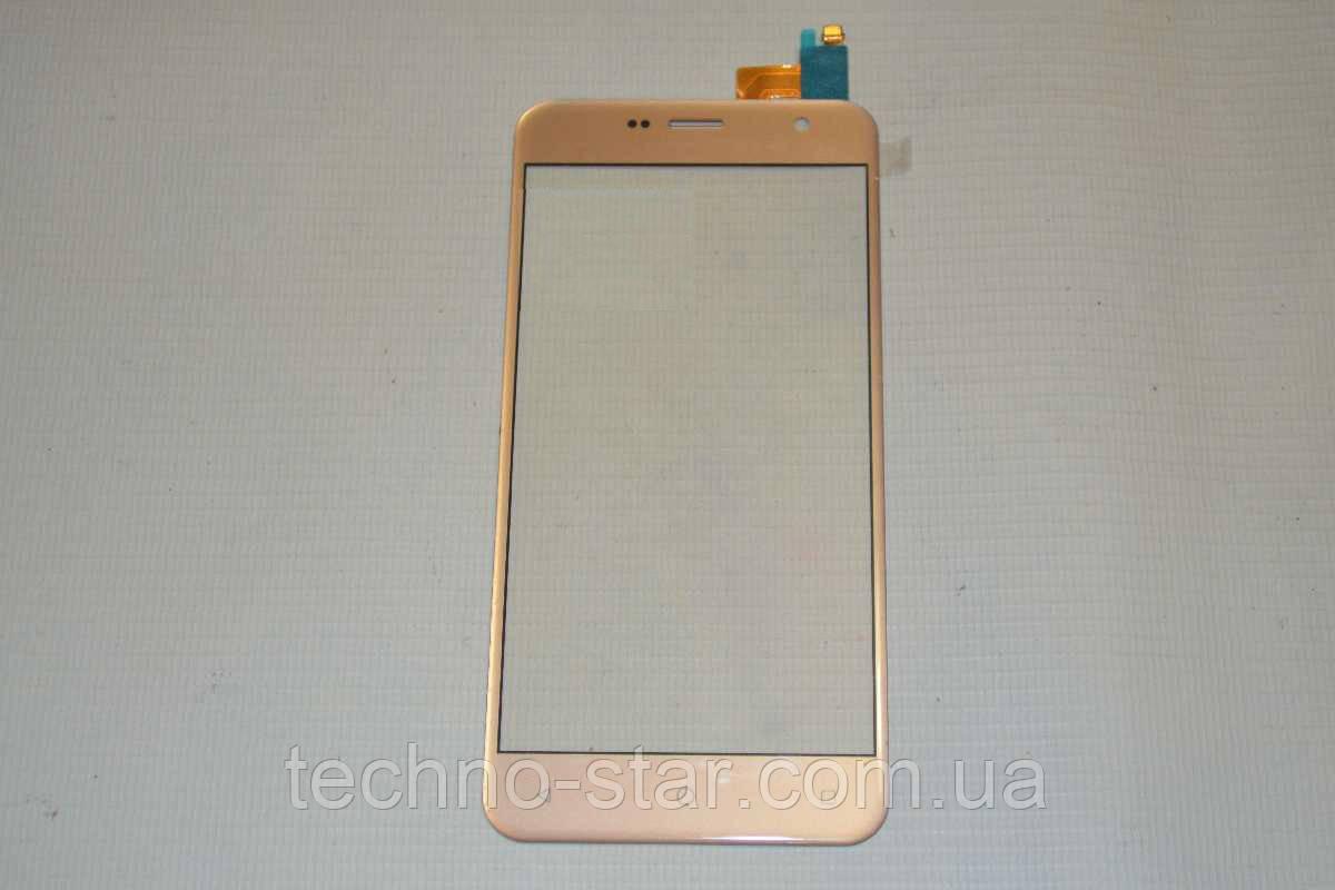 Оригинальный тачскрин / сенсор (сенсорное стекло) Prestigio MultiPhone Muze B3 3512 | Muze B7 7511 Duo золотой