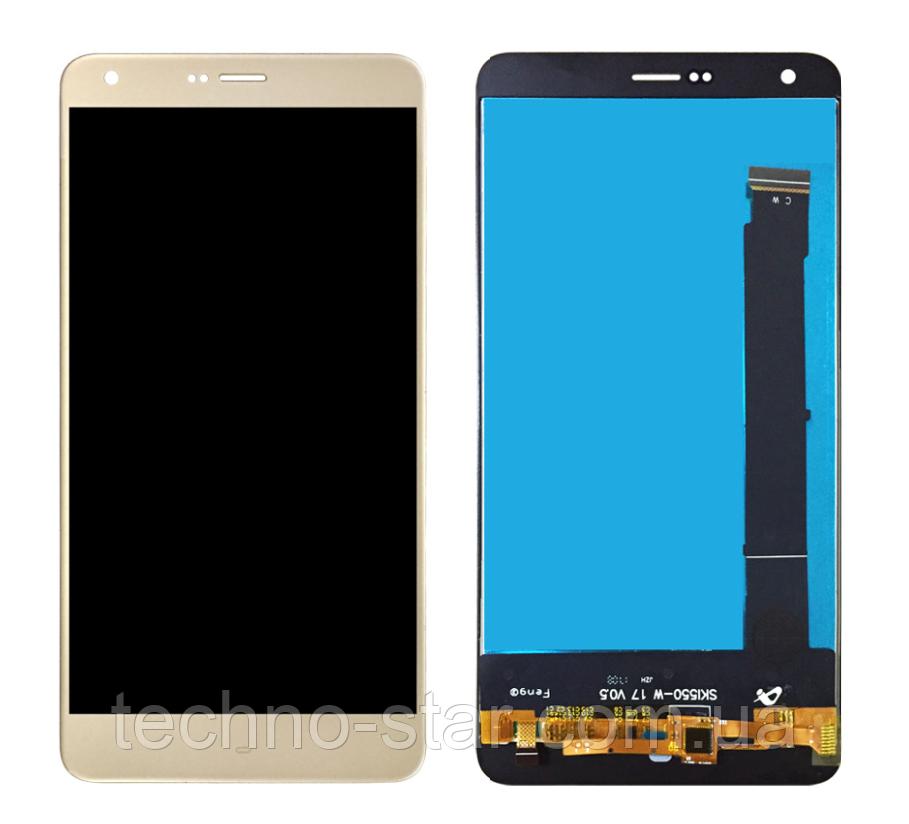 Оригинальный дисплей (модуль) + тачскрин (сенсор) для Prestigio MultiPhone Grace S7 7551 Duo (золотой цвет)