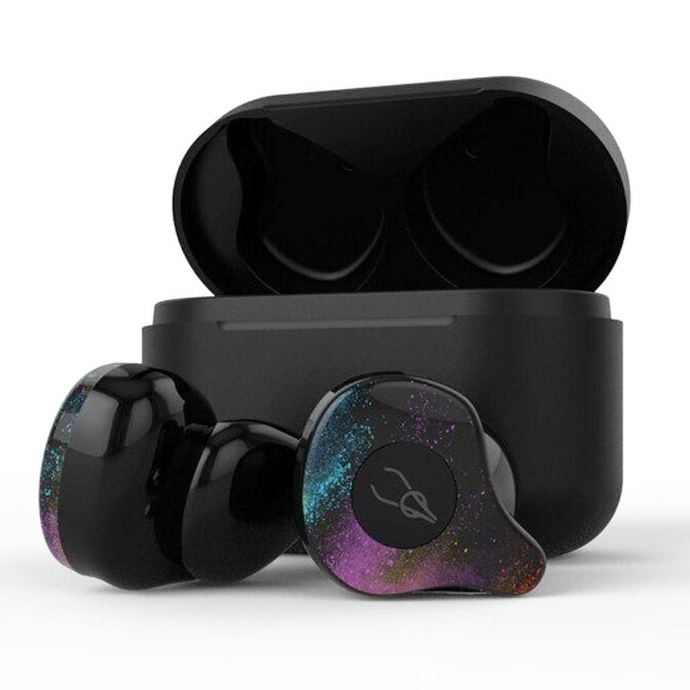 Беспроводные Bluetooth наушники Sabbat X12 Pro Fantasy с чехлом для зарядки 750 мАч (Черно-зеленый)
