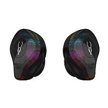 Беспроводные Bluetooth наушники Sabbat X12 Pro Fantasy с чехлом для зарядки 750 мАч (Черно-зеленый), фото 2
