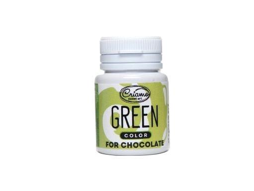 Пастообразный пищевой краситель Criamo для шоколада Зеленый