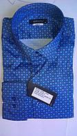 Стильная Мужская рубашка DERGI приталенная с длинным рукавом  код special 6222-2