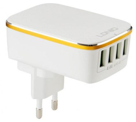 Адаптер сетевой Ldnio A4404 4USB 4.4A белый