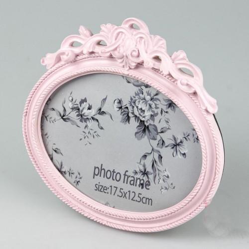"""Овальная рамка для фотографии 13х18 см """"Королевская. Розовая"""" - Soroka в Запорожье"""