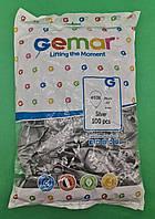 """Повітряні кулі сталевий металік 10"""" (25 см) Gemar 100 шт (1 пач.)"""