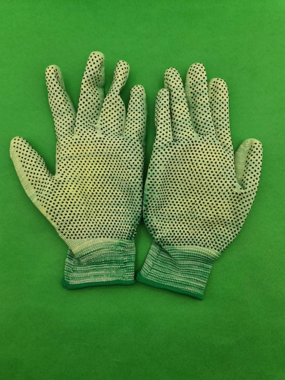 Хозяйственные перчатки с полиуретановым покрытием и ПВХ точкой (12 пар)