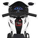 Детский мотоцикл M 4216 AL-1, музыка, свет, надувные колеса, кожаное сиденье, белый, фото 3