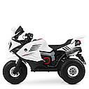 Детский мотоцикл M 4216 AL-1, музыка, свет, надувные колеса, кожаное сиденье, белый, фото 4