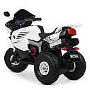 Детский мотоцикл M 4216 AL-1, музыка, свет, надувные колеса, кожаное сиденье, белый, фото 5