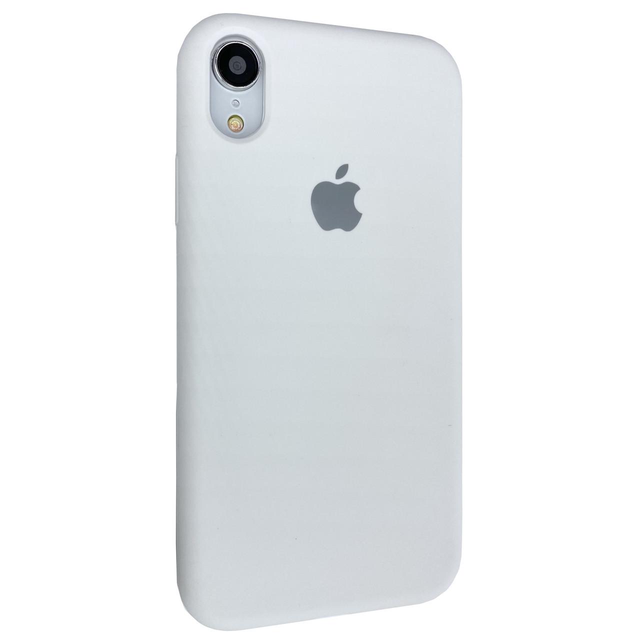 Чехол-накладка Silicone Case Full Cover для Apple iPhone XR (white)