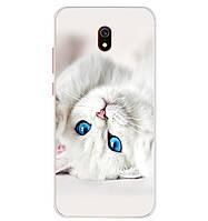 Чехол Print для Xiaomi Redmi 8A силиконовый бампер Cat white