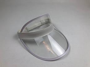 Женский пластиковый солнцезащитный Козырёк City-A на голову от солнца Прозрачный, фото 2