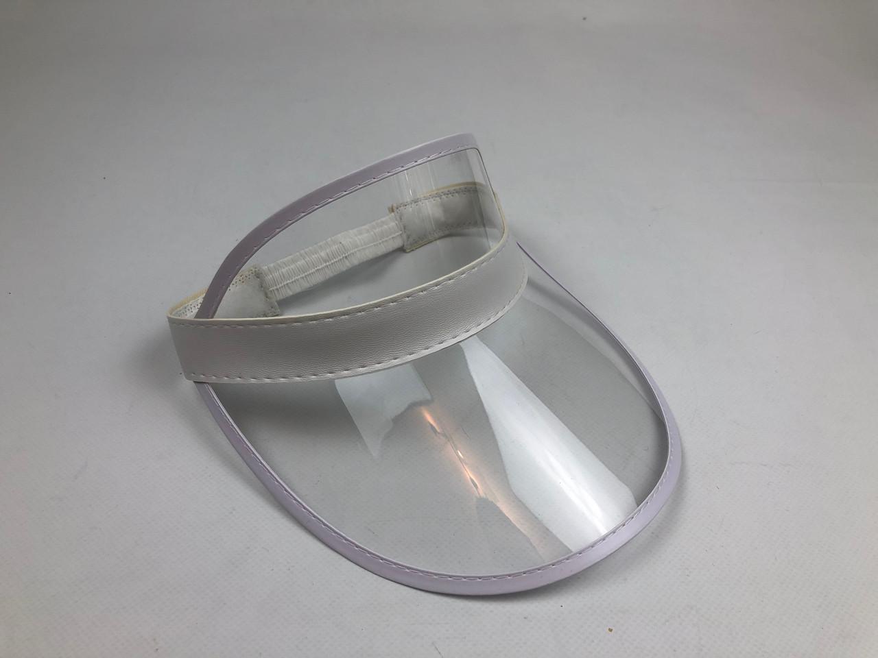 Женский пластиковый солнцезащитный Козырёк City-A на голову от солнца Прозрачный