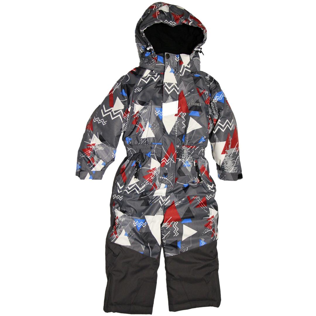 Дитячий зимовий цілісний термо комбінезон для хлопчика 92-110 зросту Disumer (Snowest) сірий