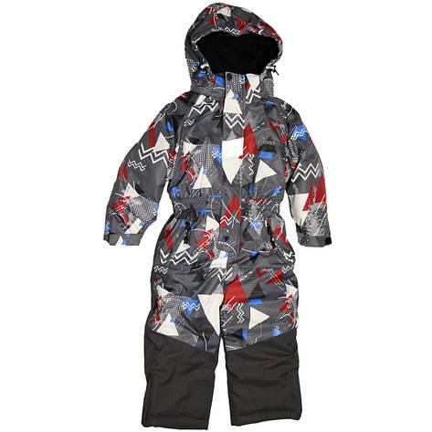 Дитячий зимовий цілісний термо комбінезон для хлопчика 92-110 зросту Disumer (Snowest) сірий, фото 2