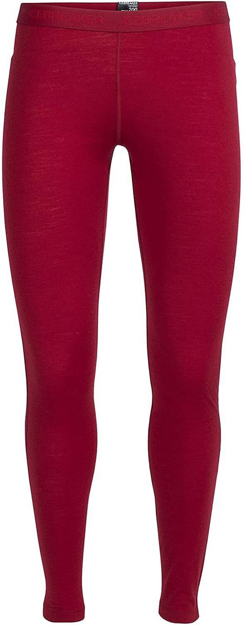 Термобрюки женские Icebreaker 200 Oasis Leggings Oxblood S (100 521 602 S)