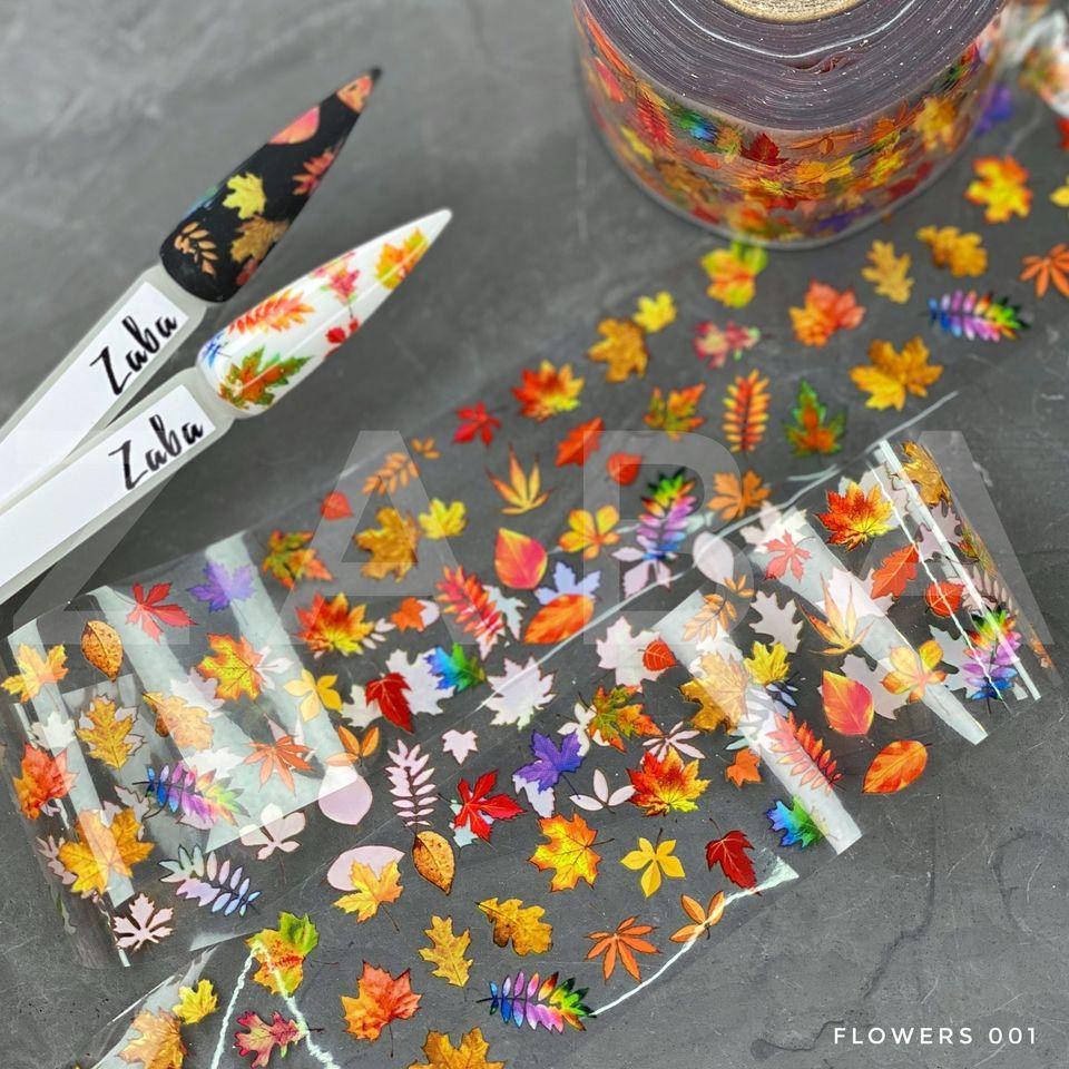 Фольга переводная Flowers 001, 50 см