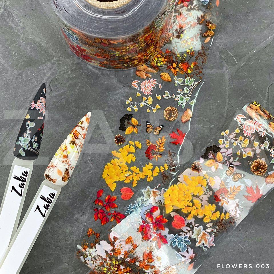 Фольга переводная Flowers 003, 50 см