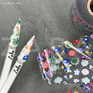 Фольга переводная Flowers 004, 50 см