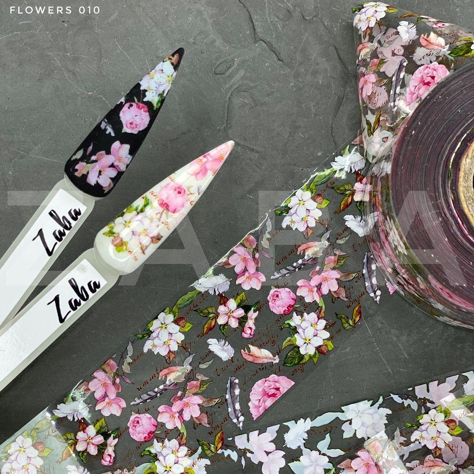 Фольга переводная Flowers 010, 50 см