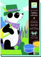 """Djeco Художественный комплект для рисования цветным песком """"Панда и его друзья"""""""
