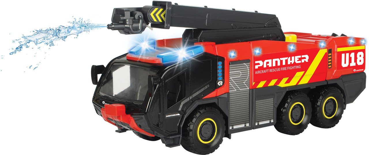 """Спасательная техника аэропорта Dickie Toys """"Пантера"""" со звуком, световыми и водными эффектами 62 см (3719012)"""