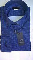 Стильная Мужская рубашка DERGI приталенная с длинным рукавом  с шелком код special