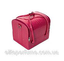 Бьюти-кейс чемодан для косметики Розовый