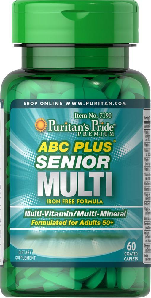 Витамины 50+ ABC Plus® Senior Multivitamin Multi-Mineral Formula 60 каплет