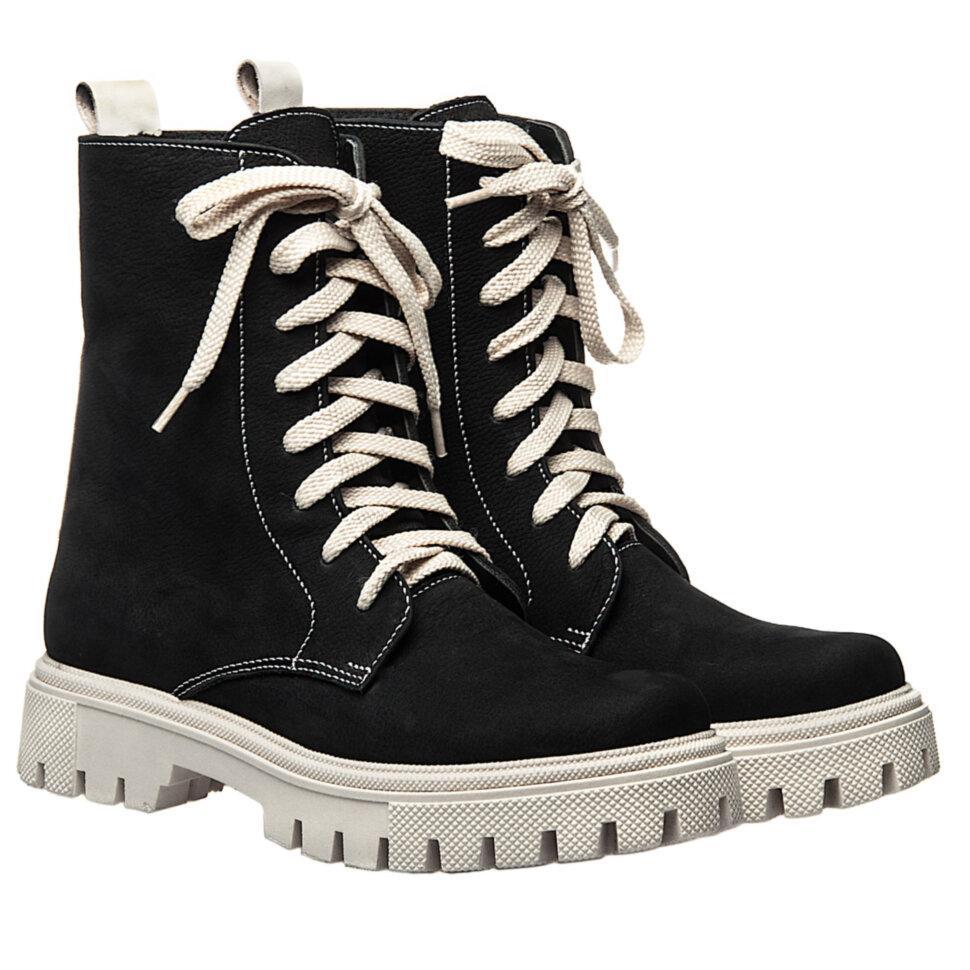Ботинки La Rose 2330 36(23,4см) Черный нубук ДЕМИСЕЗОННЫЕ