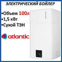 Бойлер 100 литров Atlantic Steatite Cube. Электрический накопительный водонагреватель с сухим ТЕНом. Кредит