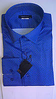 Стильная Мужская рубашка DERGI с шелком приталенная с длинным рукавом код special