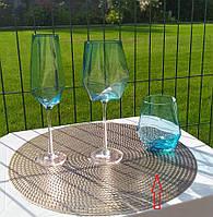 "Набор стаканов 4 шт ""Голубой бриллиант"" 600 мл, XD05"
