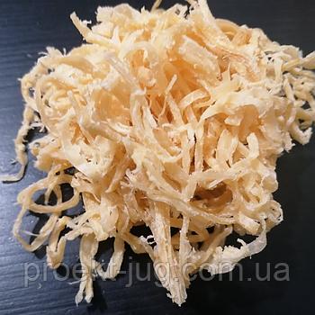 Стружка кальмара солено-сушёная бежевая вес 500 грамм  (закуска к пиву, снек )